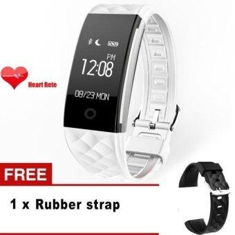 S2 Smart Band Bracelet Wristband Heart Rate IP67 WaterproofBluetooth Smartband For iPhone Xiaomi Huawei Smartphone (White) -intl
