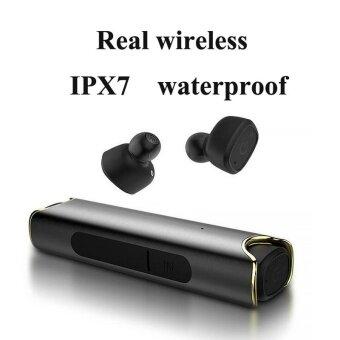 หูฟังไร้สาย s2 true หูฟังไร้สายบลูทู ธ V4.2 กีฬาใกล้ IPX7 กันน้ำที่มองไม่เห็นสำหรับโทรศัพท์ (สีดำ) - intl