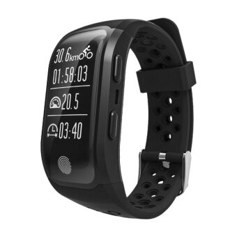 Harga S908 Wristband Heart Rate Monitor Smart Watch GPS TrajectoryTracker Outdoor Sports Waterproof For Android And IOS Phone - intl