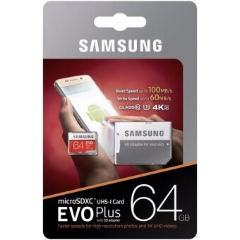 Samsung 64GB EVO Plus Micro SD with SD Adapter (100MB/s)