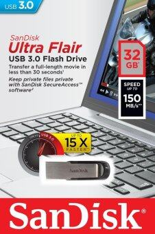 SanDisk แฟลชไดร์ฟ Cruzer Ultra Flair 32GB CZ73 USB 3.0 150MB/s