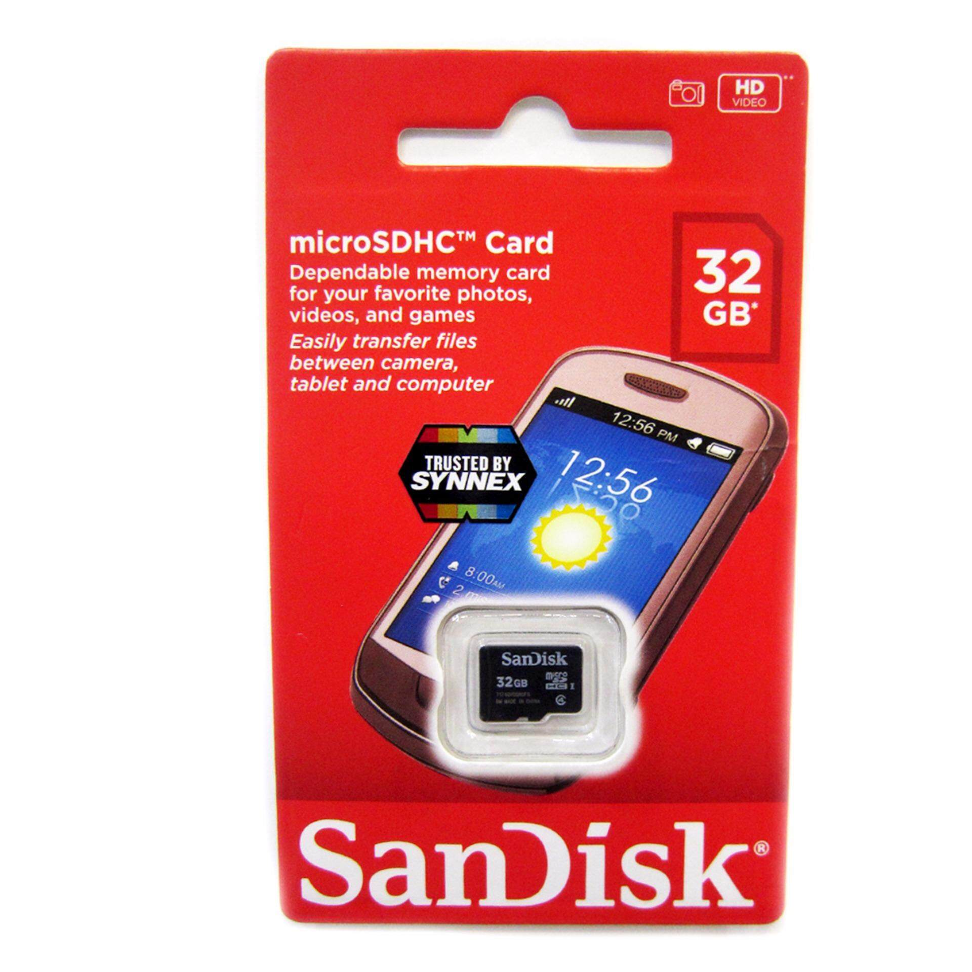 SANDISK MICRO SD 32GB CLASS 4 ของแท้Synnex ประกัน 5ปี ส่งโดย KERRY EXPRESS