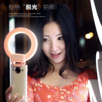 Selfie ring light พรีเมี่ยมปรับไฟได้3ระดับ รุ่นหนีบมือถือไฟออกแบบมาสำหรับเซลฟี่โดยเฉพาะ ไฟเซลฟี่ แล้วหน้าเด้ง (สีฟ้า)