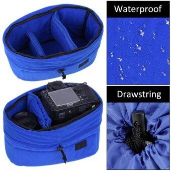 Shockproof Insert Partition Padded Camera Bag Protection Case ForDSLR Camera(Blue) - intl