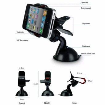 Shopvalue ขายึดโทรศัพท์มือถือกับกระจกรถ (Black) - 4