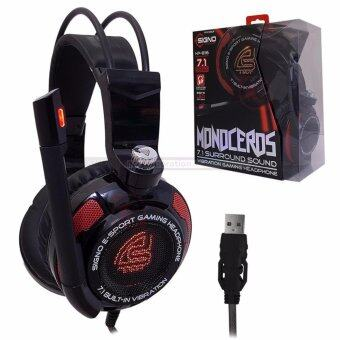 SIGNO E-Sport MONOCEROS 7.1 Surround Sound Vibration Gaming Headphone รุ่น HP-816Blk