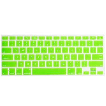 """ซื้อ/ขาย ซิลิโคนกันฝุ่น Silicone Keyboard Cover Skin For APPLE Macbook Pro 13""""/15""""/17""""/Air 13"""" (สีเขียว)"""