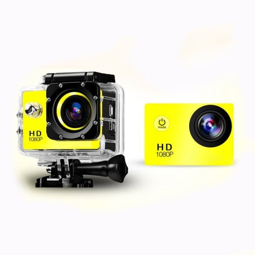 SJ4000 Full HD 1080P 12MP Car Cam Outdoor Sports DV Action Waterproof Camera Blue - intl
