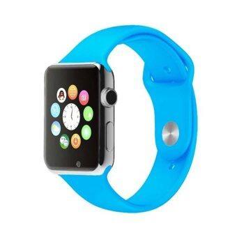 Smart Watch นาฬิกาบลูทูธมีกล้อง ใส่ซิมได้ รุ่น A8 (สีฟ้า)