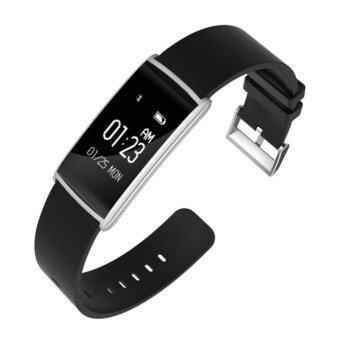 Smart Wristband N108 Heart Rate Monitor Blood Pressure Oxygen Sensor Fitness Tracker Waterproof Smart Bracelet for iOS Android - intl
