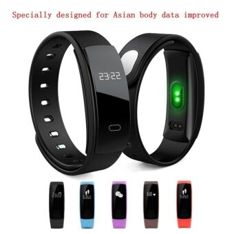 Harga สายข้อมืออัจฉริยะ SmartBand Heart Rate Monitor Blood Pressure Monitor Smart Wristband Fitness Tracker Smart Bracelet for IOS Android - intl
