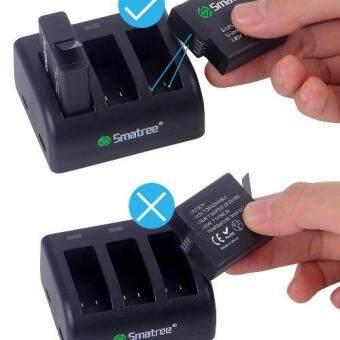 Smatree Battery (2-Pack) With 3-Channel Charger for Gopro HERO 6 / 5 Black (Compatible with Hero5 Firmware v01.50, v01.55, v01.57 and v02.00, v02.51, v02.60) (image 4)