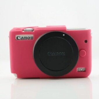 Soft Silicone Gel Rubber Camera Case Cover for Canon EOS M10(Rose)- intl