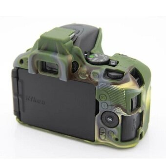 Soft Silicone Gel Rubber Camera Case Cover for NikonD5500/D5600(Green) - intl - 2