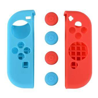 Soft Touch Silicone Joy Con Controller Case Cap Cover for NintendoSwitch