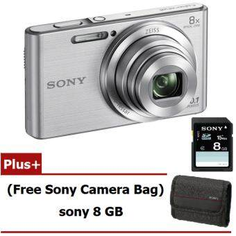 Sony Cyber-Shot รุ่น DSC-W830/S - Silver (Free sony mam 8GB Sony Camera Bag)