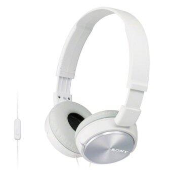 Sony หูฟังแบบครอบหู รุ่น MDRZX310APW (สีขาว) + ไมค์