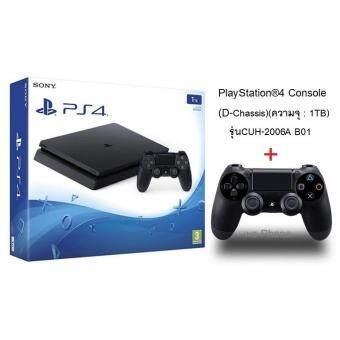 Sony PlayStation®4 (PS4 Slim)-CUH-2006B-B01/1TB/Jet black /Free: DUALSHOCK®4 Wireless Controller 1+1/ ประกันศูนย์ไทย