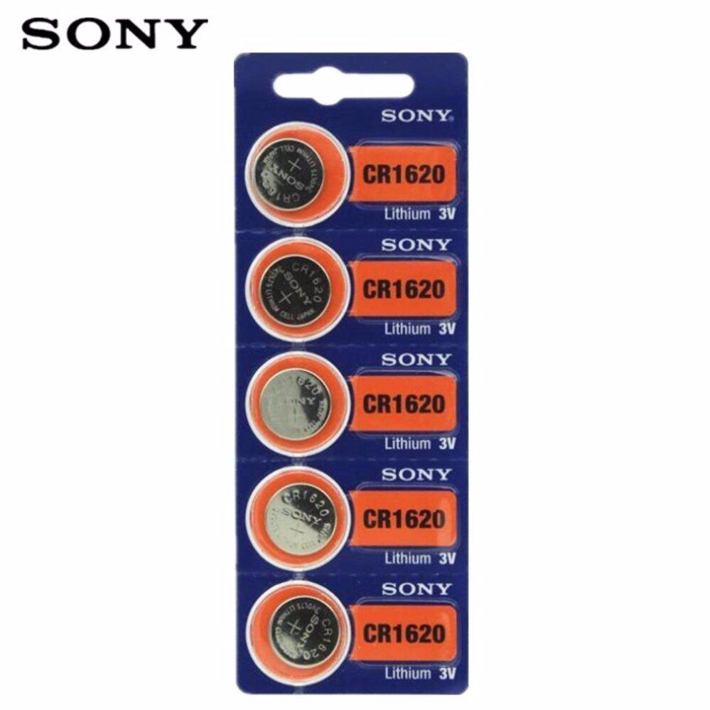 Sony ถ่านกระดุม SONY CR1620 Lithium 3V(1 แพ็ค 5 ก้อน)
