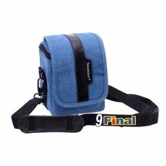 Soudelor Camera Bag กระเป๋ากล้อง digital /MirrorLess กล้อง Actionผ้า Canvas รุ่น 2001V (Vertical) - สีน้ำเงิน( Blue Color) (Blue) - 5