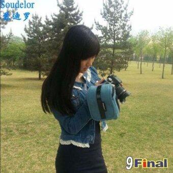 Soudelor Camera Bag กระเป๋ากล้อง digital /MirrorLess กล้อง Actionผ้า Canvas รุ่น 2001V (Vertical) - สีน้ำเงิน( Blue Color) (Blue) - 2