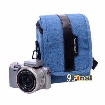 Soudelor Camera Bag กระเป๋ากล้อง digital /MirrorLess กล้อง Actionผ้า Canvas รุ่น 2001V (Vertical) - สีน้ำเงิน( Blue Color) (Blue) - 3