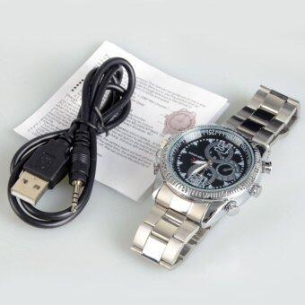 Spy สายรัดข้อมือ DV Watch 4 กรัมวิดีโอ 1280X960 ซ่อนกล้อง DVR CamcorderSilver