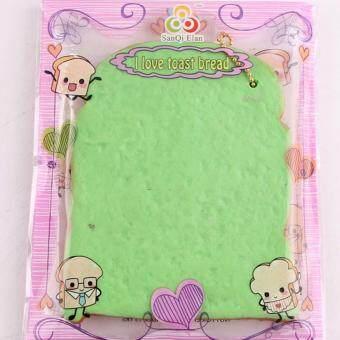 Squishy สกุชชี่ ขนมปังแผ่นหนานุ่มสีเขียว ซูเปอร์สโลว San Qi Elan