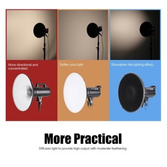Studio Photography 41cm/16 Inch Speedlite Strobe Lighting Diffuser Beauty Dish Lampshade Bowens Mount with Reflector Honeycomb Soft Cloth - intl - 2