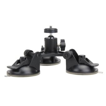 Suction Cup Tripod Mount for Gopro Hero 5 4 Session SJCAM SJ4000Ball Head - intl