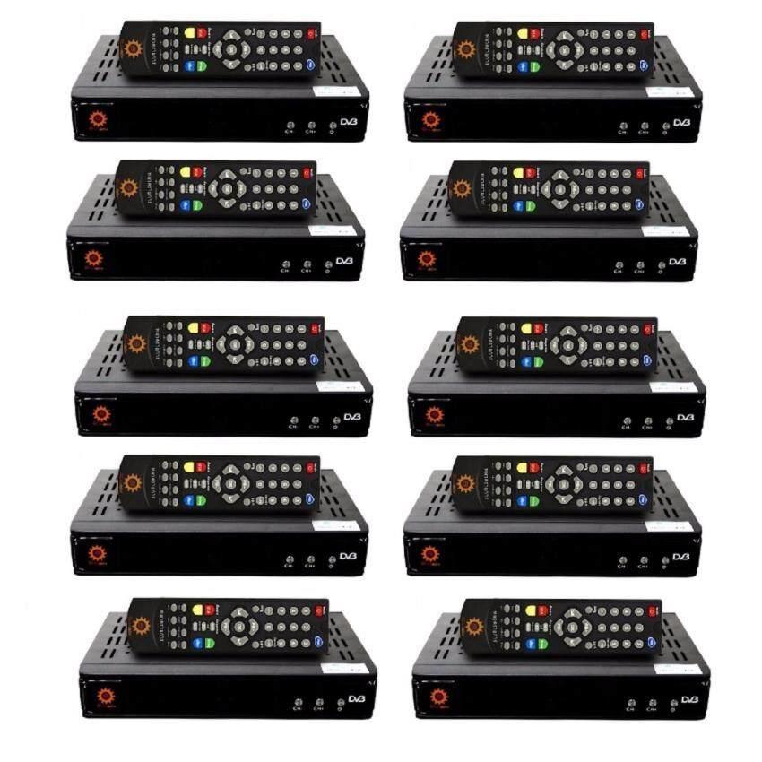 เครื่องรับสัญญาณทีวีดาวเทียม C & KU Sunbox รุ่น Super Bonus ดูฟรี 250 ช่อง ใช้ได้กับจานดาวเทียม ทุกยี่ห้อ ทุกขนาด ดูทีวีดิจิตอลได้ -สีดำ แพ็ค 10 ตัว (ตัวละ 329.-) ช็อปง่ายๆ 24 ชั่วโมง