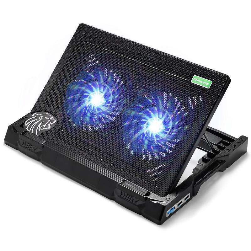 Super Laptop Cooling Pad Super Mute Protect Laptop Never Get Hurt And Prolong computer Life Spend - intl