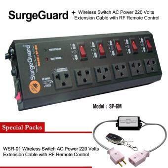 SurgeGuard SP-6M (SL-6M)+WSR-01 เครื่องกรองไฟ กันไฟกระชาก ปลั๊กไฟรางปลั๊กไฟ ปลั๊กสำหรับเครื่องเสียง ปลั๊กสำหรับทีวี โฮมเธียร์เตอร์