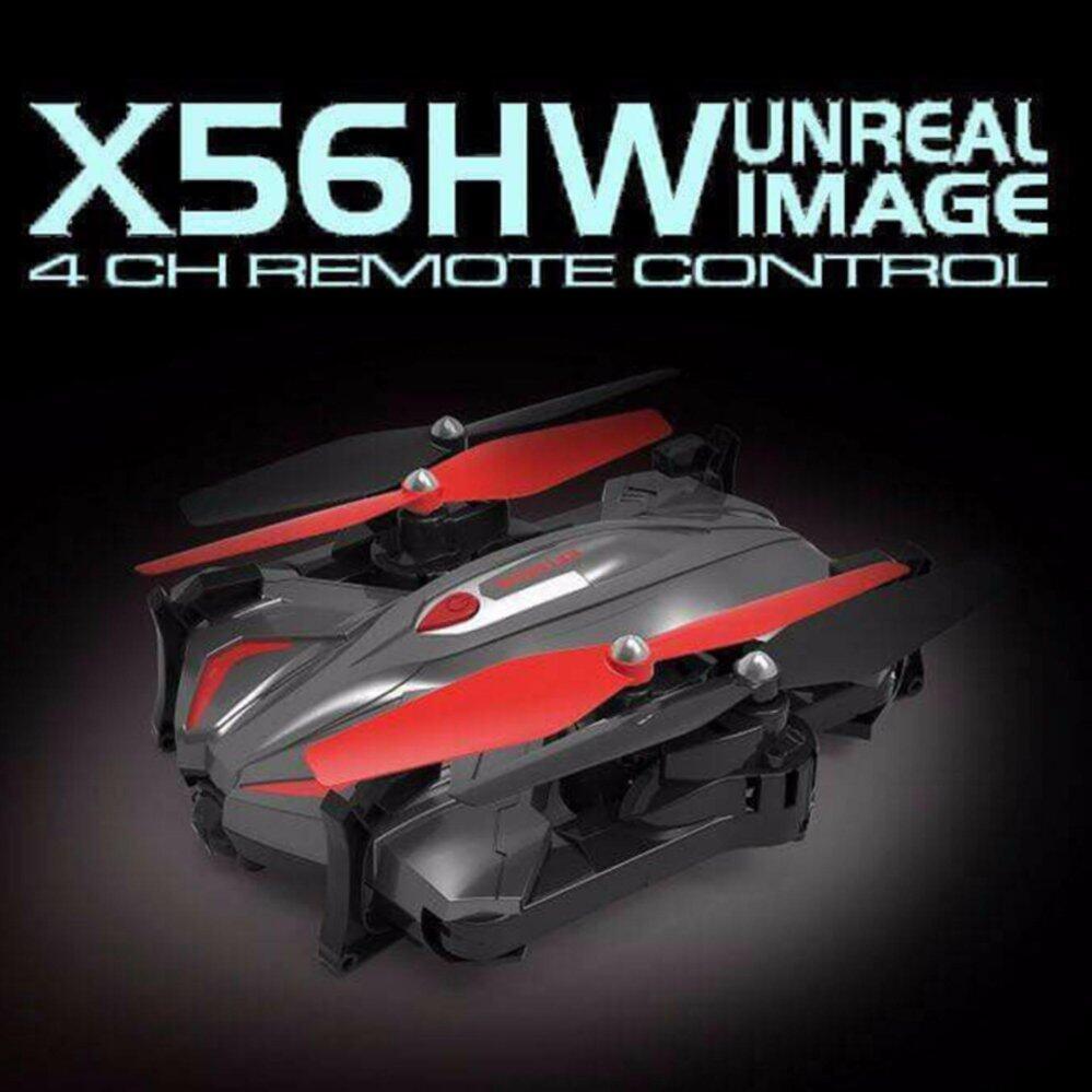 Syma โดรนถ่ายภาพ รุ่นใหม่ โดรนพับได้ ใส่กระเป๋า โดรนเซลฟี่ New Drone Syma X56HW บินนิ่ง ถ่ายวีดีโอ ภาพนิ่ง บินตามคำสั่ง