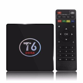 T6 Android 6.0 TV Box Amlogic S905X Quad Core 64Bit 2G + 16G H.265UHD 4K VP9 3D Mini PC WiFi AirPlay Miracast DLNA - intl