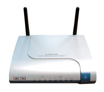 Tactio Altera-04G ADSL2/2Plus Modem+Router+4Ports switch (Grey)