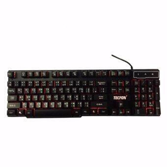 ประเทศไทย TECFON Keyboard Backlight Gaming คีย์บอร์ด เรืองแสง รุ่น SX-A8 (Black)