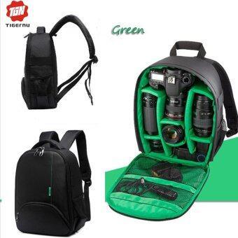 เปรียบเทียบราคา กล้องกันน้ำกระเป๋าเป้ Tigernu DSLR กระเป๋ากล้อง (สีดำ/สีเขียว)