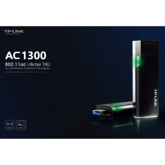 Harga TP-LINK AC1300 Wireless Dual Band USB Adapter รุ่น Archer T4U(สีดำ)
