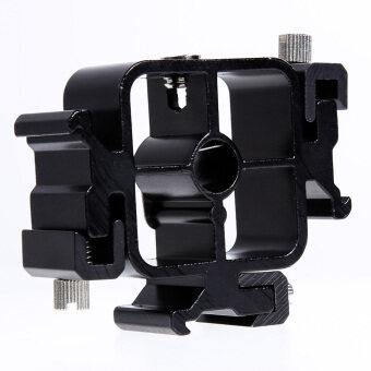 Triple Hot Shoe Mount Adapter Flash Light Stand Umbrella HolderBracket - Intl - Intl