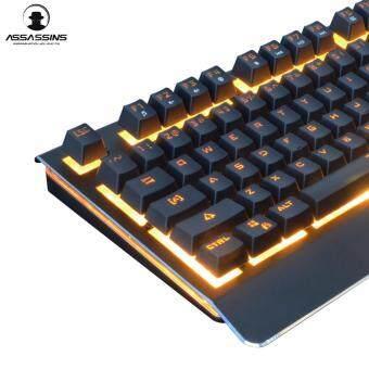 Tsunami Assassins GK-08 Semi-Mechanical Gaming Keyboard (Orange Light) - 4