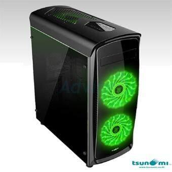 ซื้อ/ขาย Tsunami Computer Case CA-X7 (Black-Green)