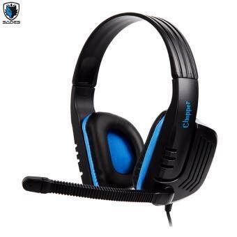 Tsunami SADES CHOPPER SA-711International Exclusive Edition Stereo Gaming Headphone Headset with Microphone for DesktopIPADIphone3/4/5/6/6s plus/PC/Mac (Blue) Power By FunRepublic