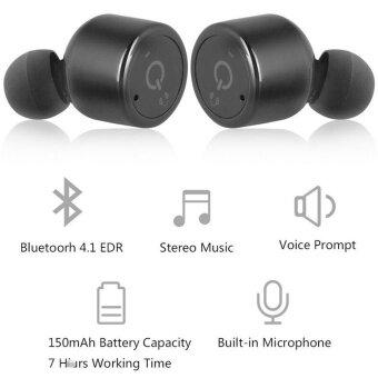 คุณภาพดีที่สุด TTLIFEชุดหูฟังบลูทูธไร้สายแบบใหม่สไตล์ดนตรีคู่แฝดหูฟังสเตอริโอกีฬาในหูสำหรับสมาร์ทโฟนและแท็บเล็ต - 2