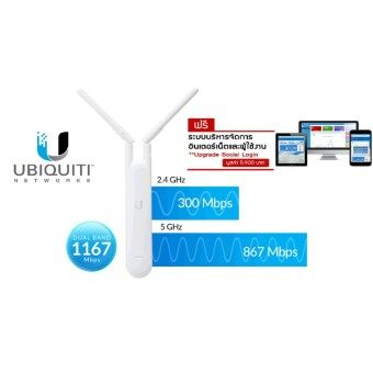 UAP-AC-M - Ubiquiti UniFi 802.11ac Mesh 2.4/5GHz AP + Free Smile Hotspot No Monthly Fee Suitable for use with Mikrotik
