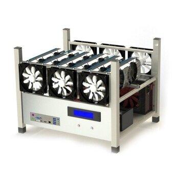 Ubest 6 GPU Open Air Mining Case Computer ETH Miner Frame Rig 6x FanTemp Monitor - intl