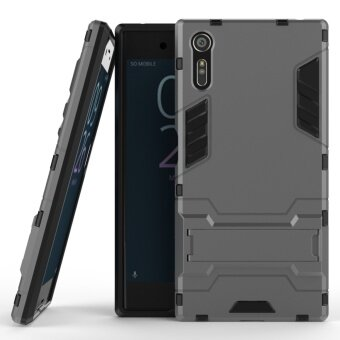 Ueokeird Hybrid Kickstand Rugged Rubber Armor Hard PC+TPU 2 In 1With Stand Function Cover Cases for Sony Xperia XZ - intl
