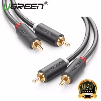 UGREEN 2RCA Male to 2RCA Male Stereo Audio Cable For TV DVDAmplifier - 1m - intl