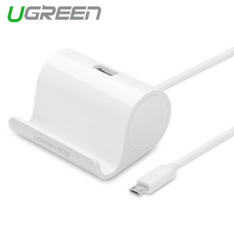 UGREEN USB OTG Adapter with Cradle Compatible for LG g3 g4 g5 HTCSony xperia Xiaomi (White)