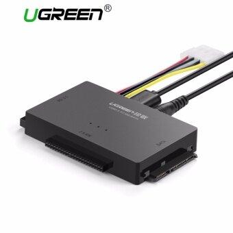 UGREEN USB ไปยัง IDE Converter USB 3.0 ไปยัง SATA และ IDE ฮาร์ดไดรฟ์ Adapter สำหรับ 2.5/3.5 นิ้ว IDE SATA HDD SDD CD/DVD ROM CD-RW COMBO DVD-RW.DVD-RAM กับ 12V2A อะแดปเตอร์ไฟ 4Pin Power สายเปิด/ปิดสวิทช์ UK Plug